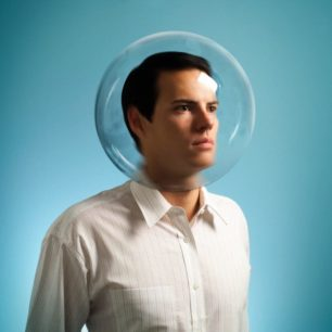 man in a bubble